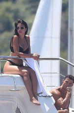 GEORGINA RODRIGUEZ in Bikini and Cristiano Ronaldo at a Yacht in France 06/23/2019