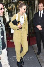 GIGI HADID Leaves Her Hotel in Paris 06/22/2019