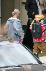 HAILEY and Justin BIEBER Arrivies at a Church in Miami 06/14/2019