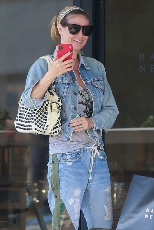HEIDI KLUM Shopping at Barneys New York in Beverly Hills 06/10/2019