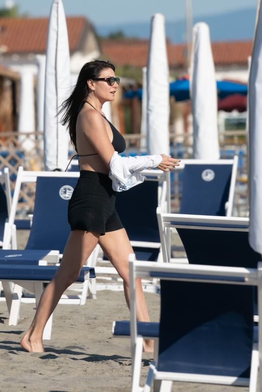 ILARIA D'AMICO in Bikini on the Beach in Forte Dei Marmi 06/04/2019
