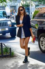 IRINA SHAYK Out and About in New York 06/28/2019