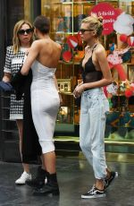 IRINA SHYAK and STELLA MAXWELL Holding Hands Out in Florence 06/14/2019
