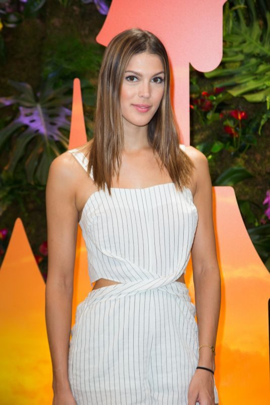 IRIS MITTENAERE at Jungle Book Jive Photocall at Lion King Festival at Disneyland Paris 06/29/2019