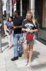 ISKRA LAWRENC Leaves Cartier Store in Beverly Hills 06/10/2019