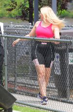 ISKRA LAWRENCE at Six Flags Great Adventure in New Jersey 06/06/2019
