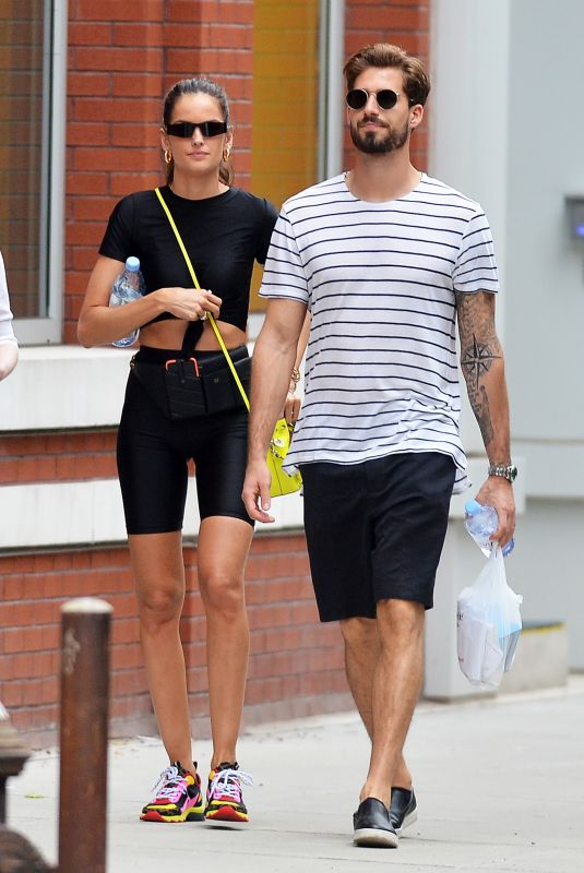 IZABEL GOULART and Kevin Trapp Leaves a Gym in New York 06/17/2019