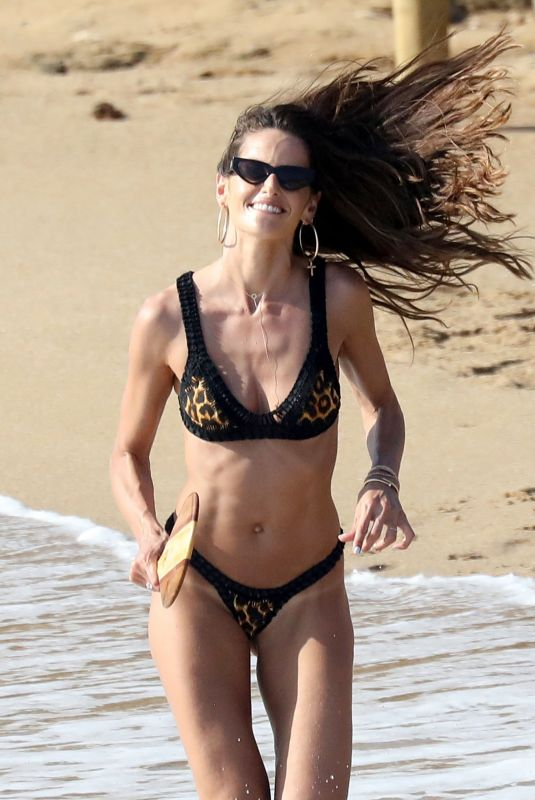 IZABEL GOULART in Bikini on the Beach in Mykonos 06/27/2019