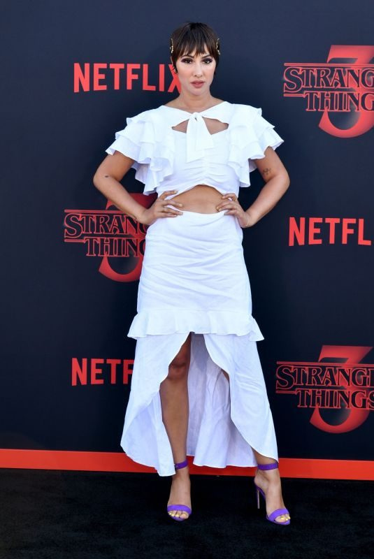 JACKIE CRUZ at Stranger Things, Season 3 Premiere in Santa Monica 06/28/2019