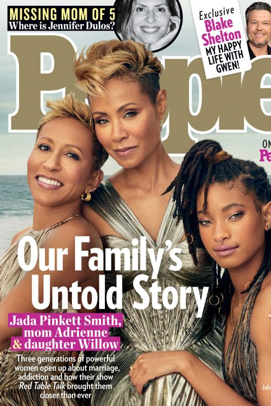 JADA PINKET and WILLOW SMITH and ADRIENNE BANFIELD NORRIS in People Magazine, July 2019