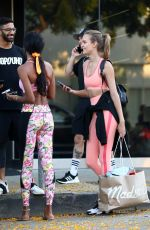 JASMINE TOOKES and JOSEPHINE SKRIVER Leaves Dogpound Gym in Los Angeles 06/15/2019