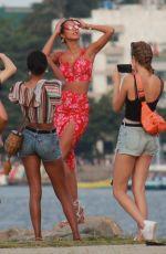 JASMINE TOOKES, JOSPEHINSKRIVER and LAIS RIBEIRO at a Beach in Rio De Janeiro 06/20/2019