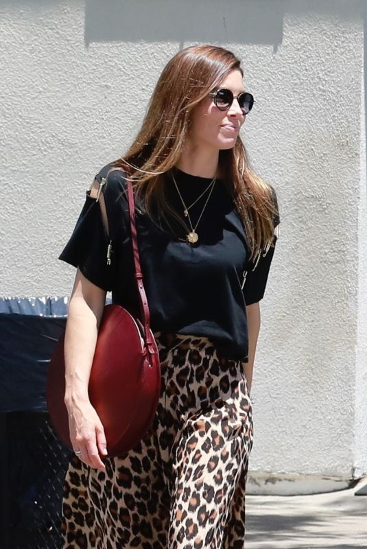 JESSICA BIEL Out for Coffee in Studio City 06/10/2019