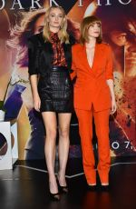 JESSICA CHASTAIN and SOPHIE TURNER at X-men: Dark Phoenix Press Conference in Mexico City 06/15/2019