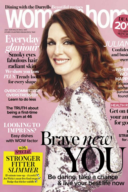 JULIANNE MOORE in Woman and Home, South Africa July 2019