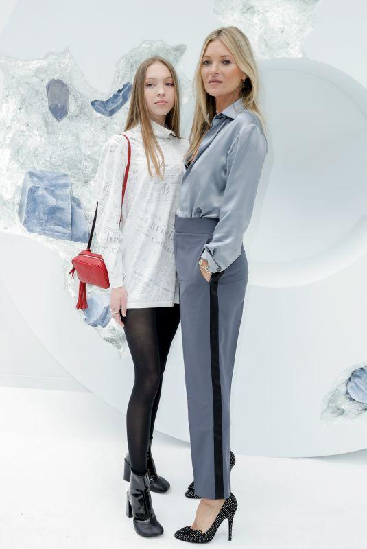 KATE MOSS and LILA GRACE MOOS HACK at Dior Show at Paris Fashion Week 06/21/2019