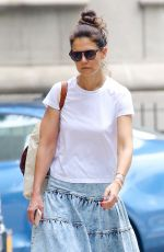 KATIE HOLMES Out in New York 06/14/2019