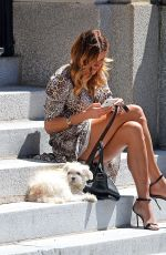 KELLY BENSIMON Out with Her Dog in New York 06/10/2019