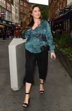 KELLY BROOK Leaves Global Studios in London 06/24/2019