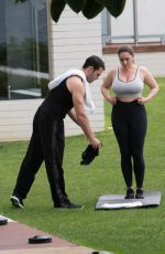 KELLY BROOK Workout at a Gym in Kent 06/09/2019