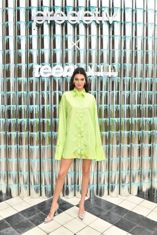 KENDALL JENNER at Paint Positivity: Because Words Matter Event in New York 06/20/2019