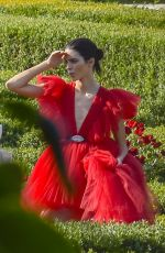 KENDALL JENNER on the Set of a Photoshoot in Rome 06/04/2019