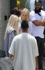 KHLOE KARDASHIAN at Kanye West