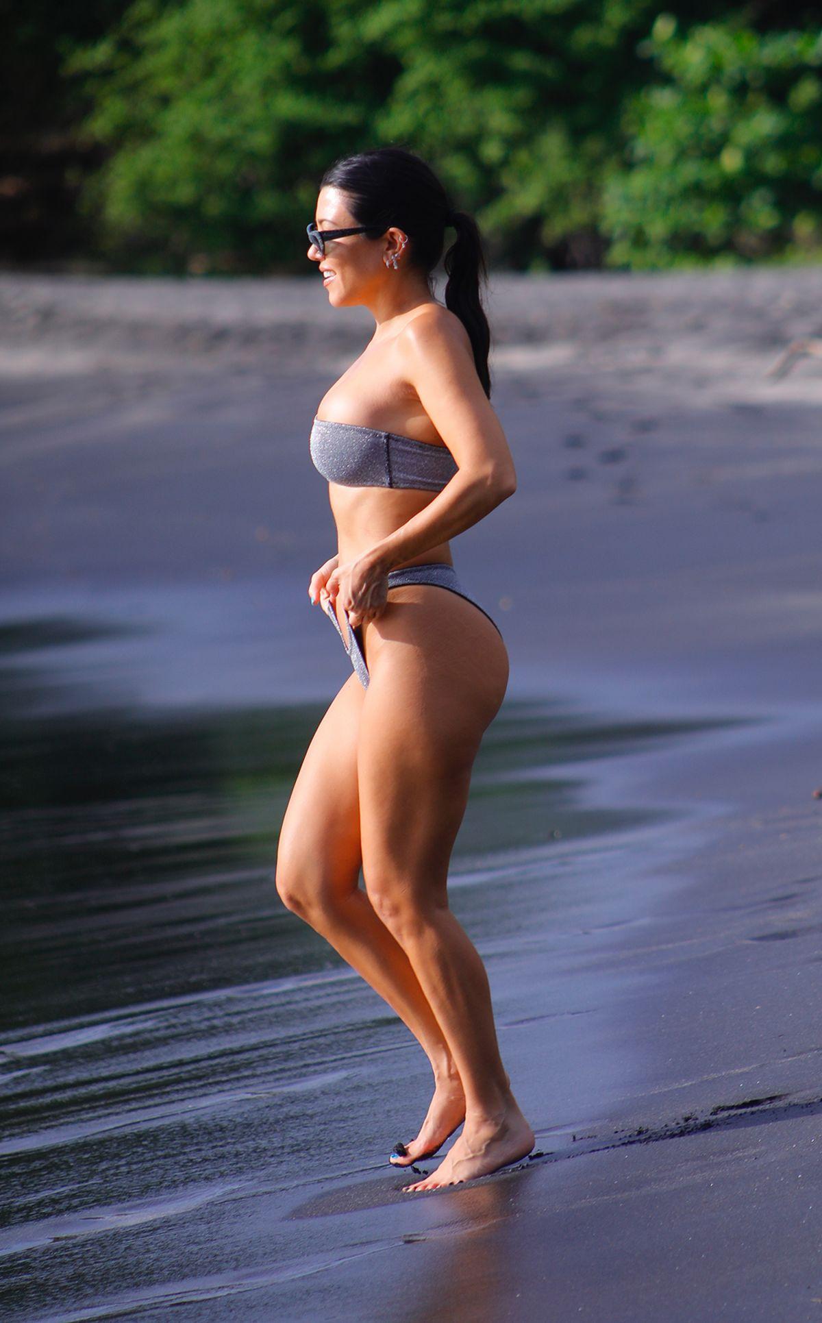 KIM and KOURTNEY KARDASHIAN in Bikinis on Vacation in ...