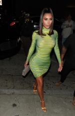 KIM KARDASHIAN Arrives at Larsa Pippen