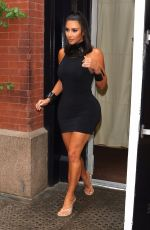 KIM KARDASHIAN Arrives at Ray