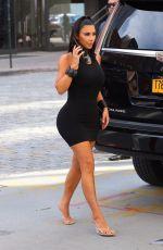 KIM KARDASHIAN in Tight Short Dress Out in New York 06/25/2019