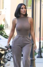 KIM KARDASHIAN in Tight Top Out in Los Angeles 06/17/2019