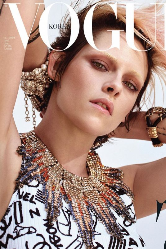KRISTEN STEWART on the Cover of Vogue Magazine, Korea July 2019