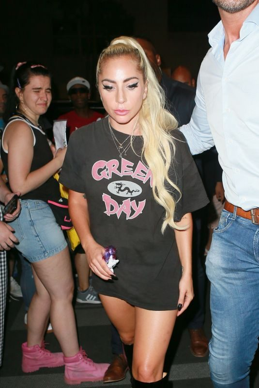 LADY GAGA Leqaves Apollo Theater Performance in New York 06/24/2019