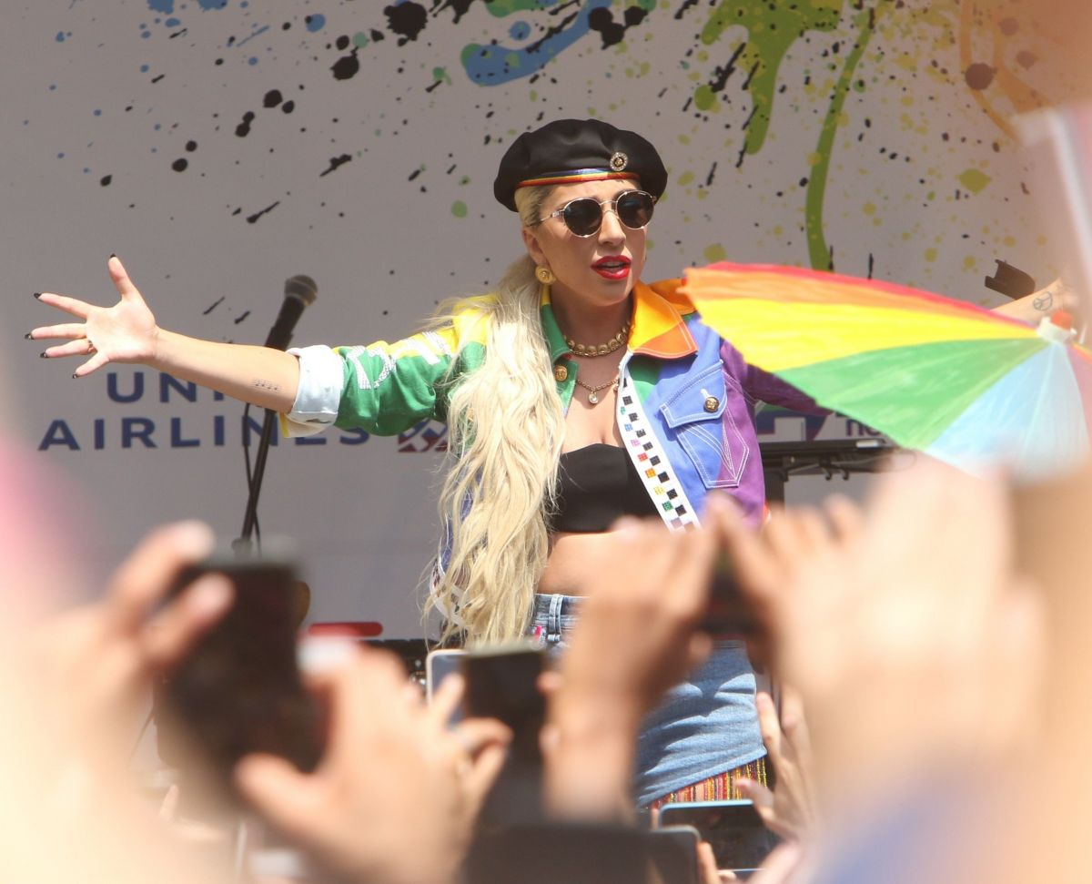 LADY GAGA Performs at Stonewall Day and World Pride in New ...