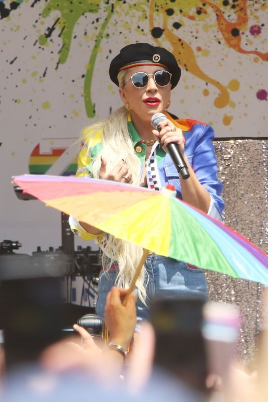 LADY GAGA Performs at Stonewall Day and World Pride in New York 06/28/2019