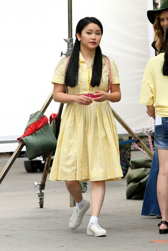 LANA CONDOR on the Set of To All the Boys I've Loved Before, Season 3 in New York 06/24/2019