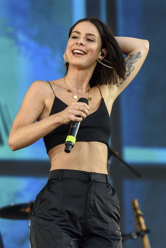 LENA MEYER-LANDRUT Performs at Peace by Peace Festival 06/01/2019
