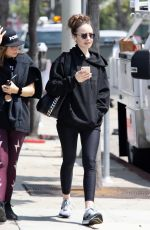 LILY COLLINS Leaves a Gym in Los Angeles 06/06/2019