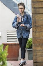 LILY COLLINS Leaves a Massage Studio in West Hollywood 06/25/2019