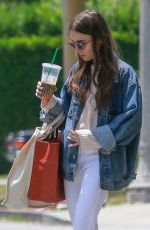 LILY COLLINS Out in Los Angeles 05/31/2019