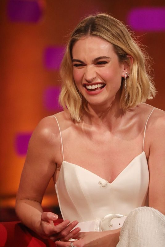 LILY JAMES at Graham Norton Show in London 06/13/2019