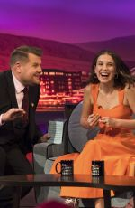 LILY JAMES at Late Late Show with James Corden 06/18/2019