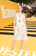 LILY JAMES at Yesterday Premiere in London 06/18/2019