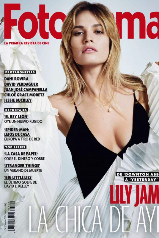 LILY JAMES in Fotogramas Magazine, July 2019