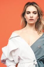 LILY JAMES in Telegraph Magazine, June 2019