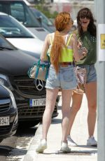 LINDSAY LOHAN Out in Mykonos 06/27/2019