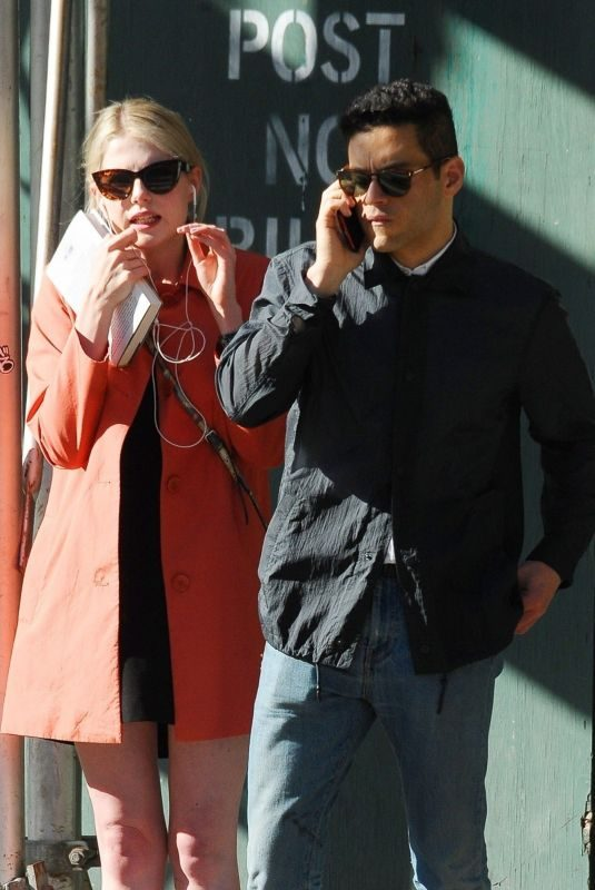 LUCY BOYNTON and Rami Malek Out Shopping in New York 06/06/2019
