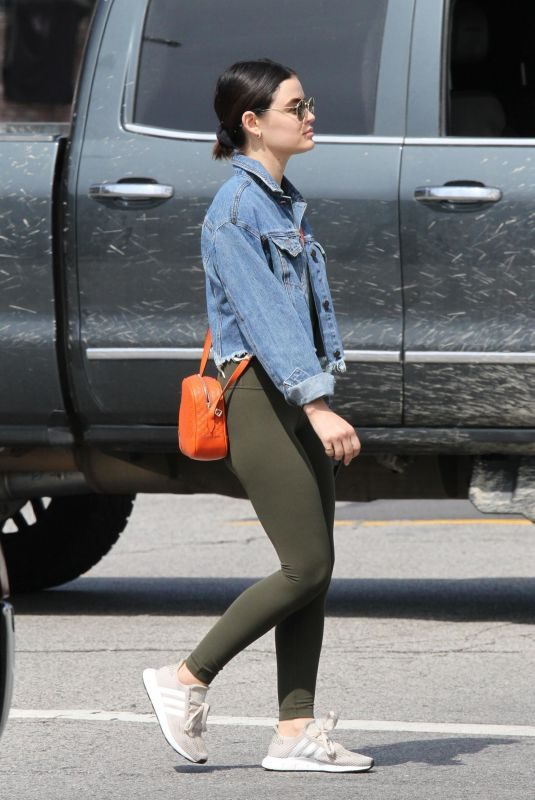 LUCY HALE Heading to a Gym in Los Angeles 06/06/2019