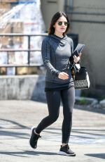 LUCY HALE Leaves a Gym in Los Angeles 06/27/2019
